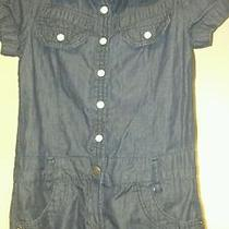 Girls Size 6 Denim Romper by Guess Brand New Free Shipping Photo