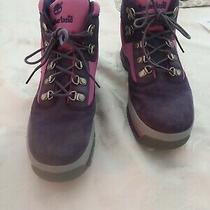 Girls Size 6 Purple and Pink Timberland Hiking Boots Photo