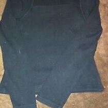 Girls Size Xs Extra Small Solid Black Low Front Long Sleeve Top Express Photo
