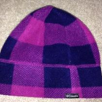 Girls Size  Youth S/m (Size 4-6) Columbia Soft Purple Violet Navy Winter Hat Photo