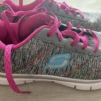 Girls Skechers Memory Foam Lite-Weight Flex Sole 81863l Sneakers Size 3.5 Youth Photo