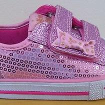 Girls Skechers Pink Itsy Bitsy 10764n Heart Light Up Sneakers Sz 8 New Photo