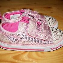 Girls Skechers Pink Itsy Bitsy 10764n Heart Light Up Sneakers Sz 10 Photo