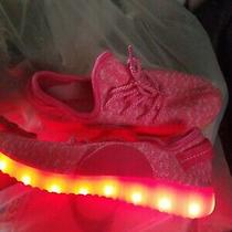 Girls Slickkicks Prism Pink Rechargeable Light Up Led Shoes Sneaker Size 3 Photo