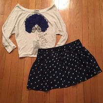 Girls Small American Eagle Outfitters Lined Beautiful Skirt & Blush Adorable Top Photo
