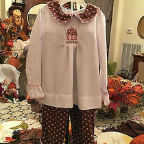 Girls Smocked 2 Piece Pant Set by Orient Expressed Inc. Size 4 Photo