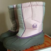 Girls Sorel Snow Command Insulated Winter Snow Boots Size 6 Photo
