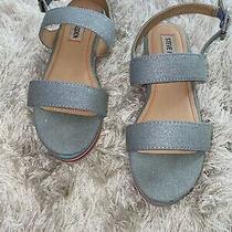 Girls Steve Madden Wedge Sandals Sparkle Demin & Multi Color Size 2 Photo