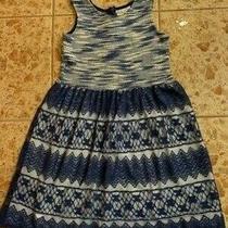 Girls Summer Dress Blush Size 8 Blue/white Good Condition Photo