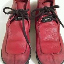Girls Sz 10...red Dkny Boots...cute..cute Photo