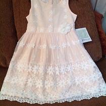 Girls Sz 6 Bonnie Jean Blush Peach Lace Overlay Easter Spring Summer Dress Nwt Photo