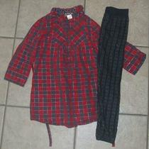 Girls Sz 7 / 8 Gray Sweater Leggings & Red Plaid Shirt 2 Pc Outfit Pink Republic Photo