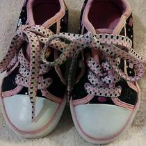Girls sz.9 Hello Kitty Lace Up Canvas Sneakers Photo