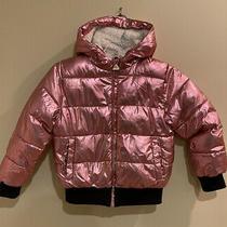 Girls Tahari Rose Gold Metallic Warm Puffer Jacket Sz 7/ Photo
