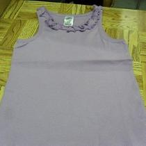 Girls Tank Top Size 4-5 Lavendar  With Ruffle Around Neck Avon Photo