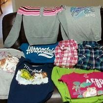 Girls Teen Lot 9 Large Aeropostale Sweater T-Shirts Plaid Dolphin Aero  Photo