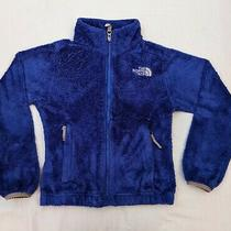 Girls the North Face Size Xs 6 Osito Plush Fleece Jacket Violet Blue Euc Photo