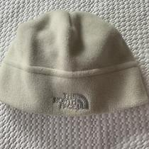 Girls' the North Face White Polartec Fleece Beanie Hat Photo