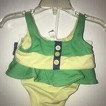 Girls Toddler Baby Gap 2-Piece Yellow/green Bikini (Size 2t) Photo