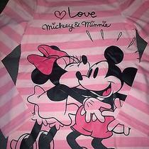 Girls Toddler h&m Disney Minnie & Mickey Mouse Eve T Shirt Top Striped 6-8y Photo
