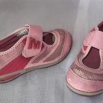 Girls/toddler Merrell  Size 11 Dolphine Mj Kids Blush Water Velcro Shoe Comfort Photo