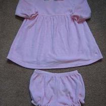 Girls Tommy Hilfiger Pink Dress W/diaper Cover 12-18m Photo