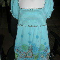 Girls Top Size Large Aqua Bluefree Shipping Photo