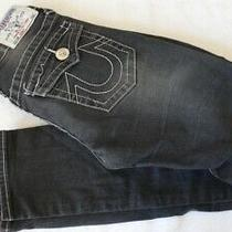 Girls True Religion Jeans Size 10 Section Skinny Color Black Low Rise  Photo