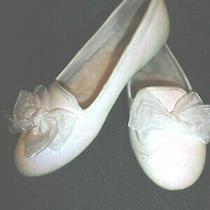 Girls Ugg Australia Ashley Size3 White Glitter Flat Slippers Slip on Shoe  Photo