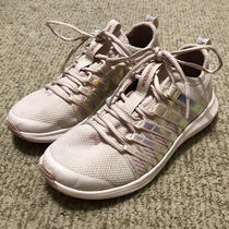 Girls Under Amour Running Shoes Blush Pink Iridescent Sz 2 Photo