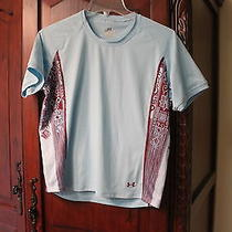 Girls Under Armour Light Blue Water Shirt  Size L Euc Photo