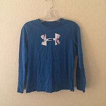 Girls Under Armour Long Sleeve Graphic T Shirt Size Large Photo
