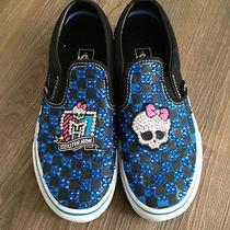 Girls Vans Custom Monster High Sneaker Shoe  Swarovski Rhinestones. Sz 3 Photo