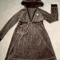 Girls  Vguc  Stylish  Gap  Brown  Velvet  Hood  Dress  10/12 Photo