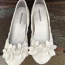 Girls White Christie & Jill Flats Size 2 Photo