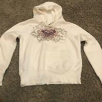 Girls Womens White  Roxy Hoodie Sweatshirt Size  Small Photo