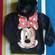 Girls Zara Hoodie Age 4-5 Years- Minnie Disney Grey Photo