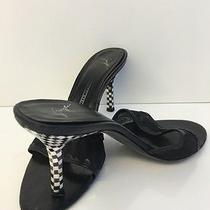 Giuseppe Zanotti Black and Mother of Pearl Checkerboard Heels Size 7.5b Guc Photo