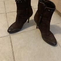 Giuseppe Zanotti Booties Heels Boots Brown Designer Women 39 Us 8.5 Photo