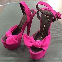Giuseppe Zanotti Clover Magenta Heels Bow Photo