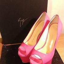 Giuseppe Zanotti Patent Leather Heels Uv Neon Pink Club/stripper/vegas Exotic Photo