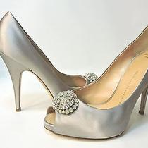 Giuseppe Zanotti Satin Heels 7.5 M Embellished Crystal Brooch Extra Nice (70 Photo