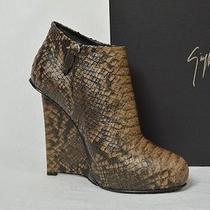 Giuseppe Zanotti Shoes Boots Platform Heels Snake Brown Wedges  Leather 39.5 9.5 Photo