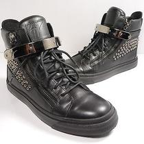 Giuseppe Zanotti Studded Zip High-Top Sneaker Black Size 40 Photo
