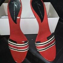 Giuseppe Zanotti Vintage Wood Silver Heel Sandals Nwb Size 39 Photo