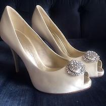 Giuseppe Zanotti White/ivory High Heels/ Satin Size 6.5 Wedding Shoes Photo