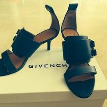 Givenchy 38 8 Leather Navy Blue Shoes 100% Authentic  Prada Shoe Bag Photo