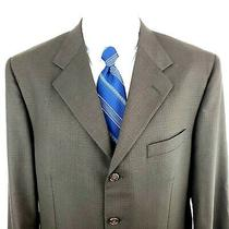 Givenchy 44r 4 Button Check Green Textured Sport Coat Blazer Tagged 42r Photo