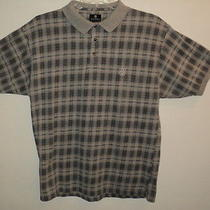 Givenchy Activewear Men's Large Size L Polo Shirt Short Sleeves Gray Plaid Photo