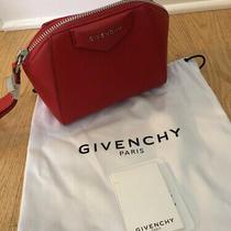 Givenchy Antigona Red Leather Wristlet Bag  Photo